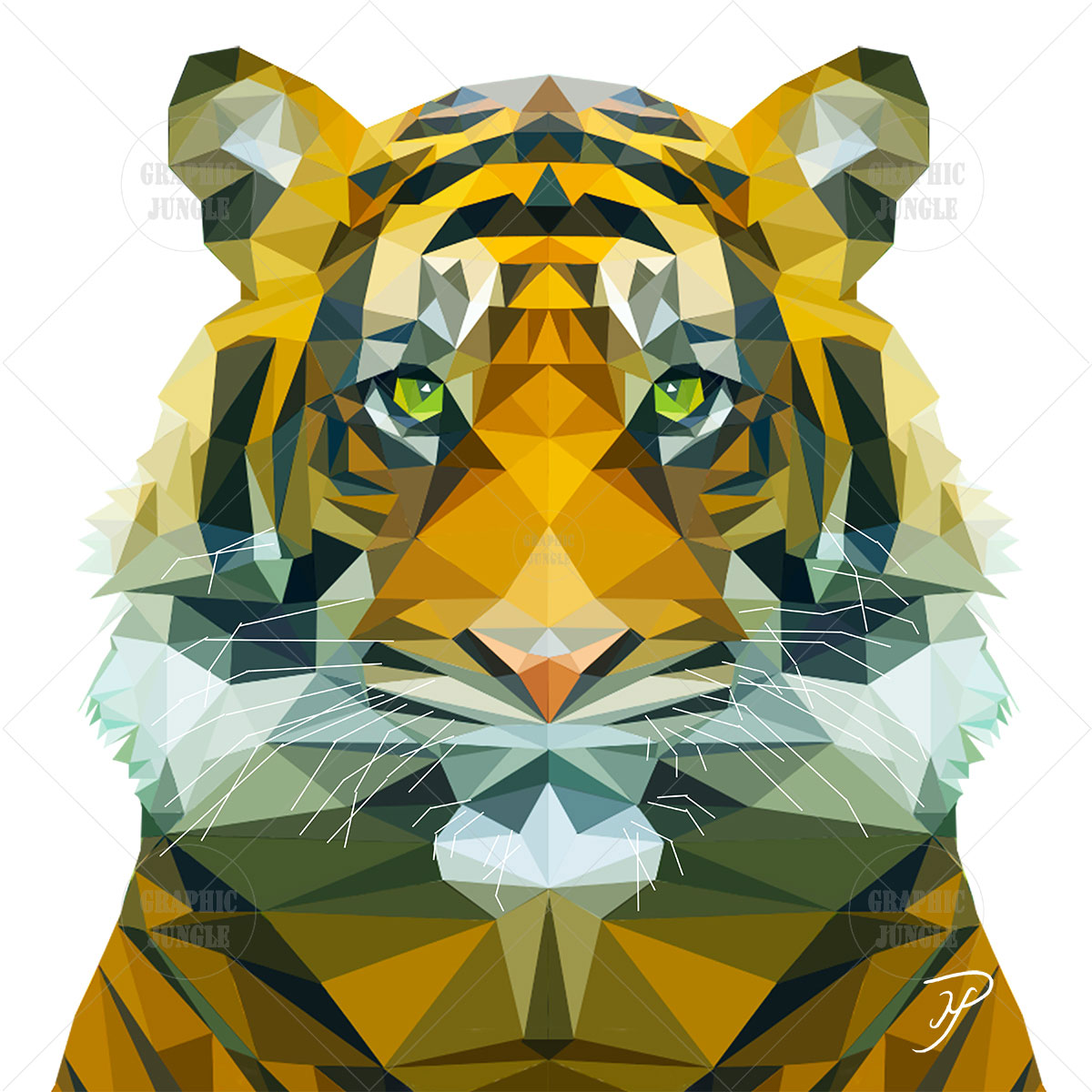 01 TIGER SQUARE WHITE