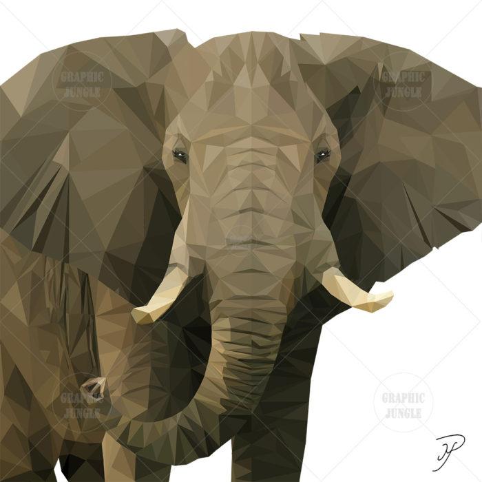 03 ELEPHANT SQUARE WHITE