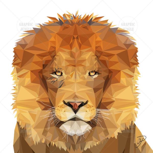 04 LION SQUARE WHITE