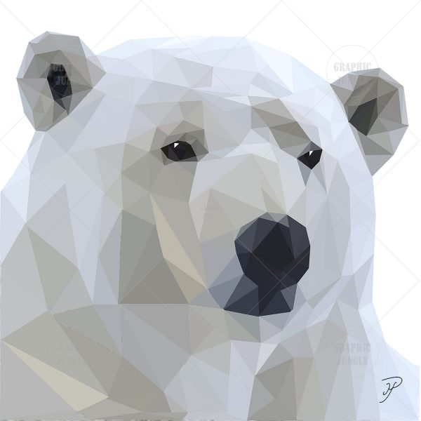 16 POLAR BEAR SQUARE WHITE
