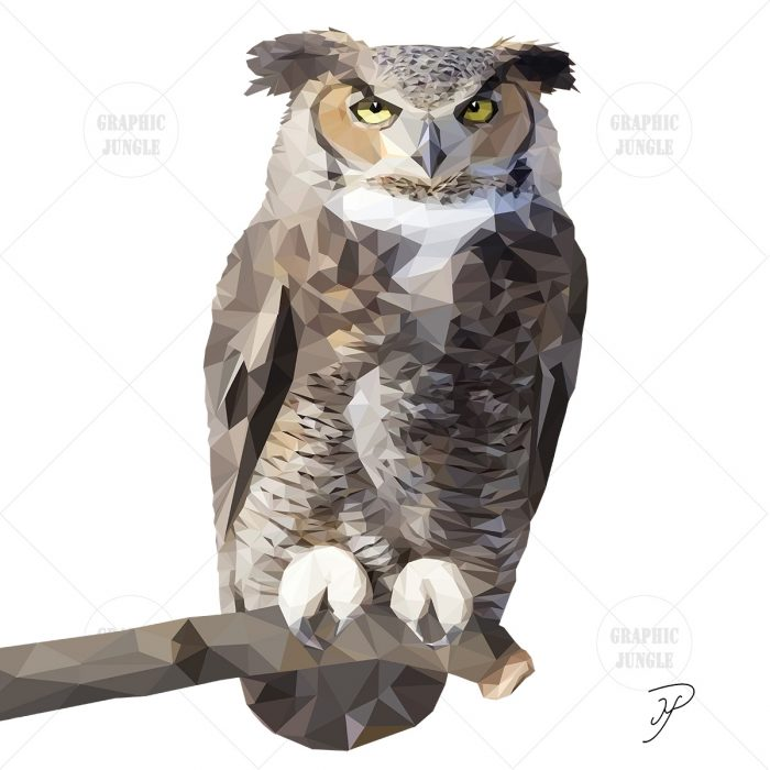21 OWL SQUARE WHITE
