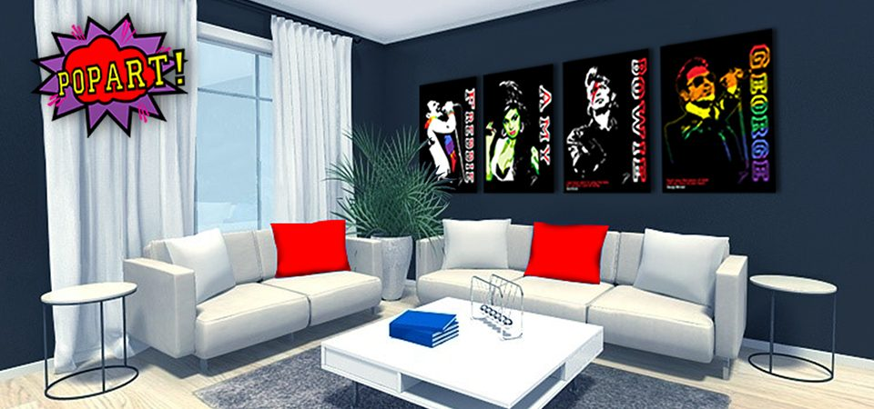 POPART Canvases on Wall