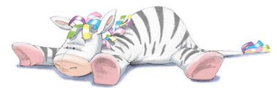 Charlie's Ark Toy Zebra